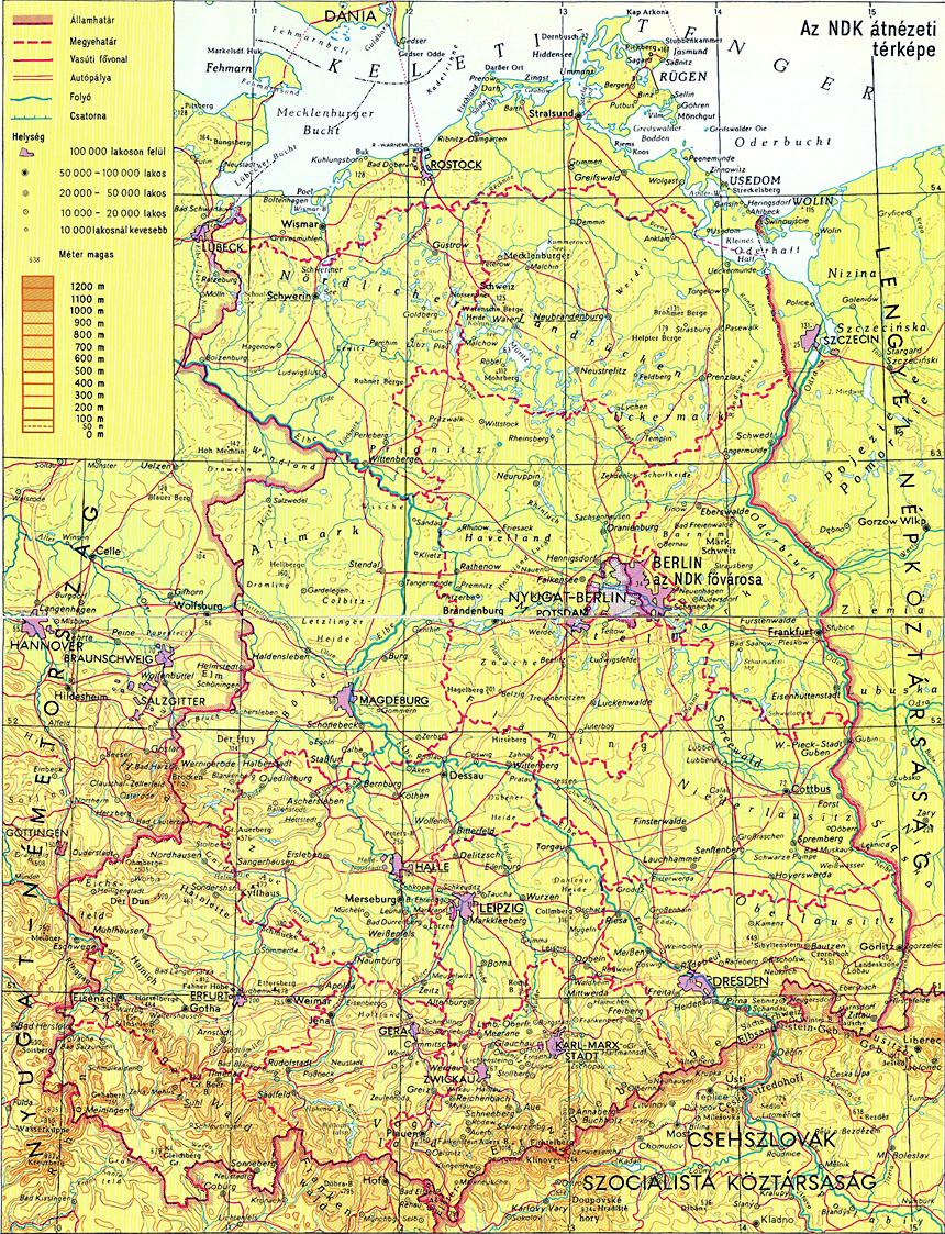 ndk térkép Német Demokratikus Köztársaság ndk térkép